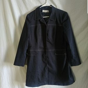 Tahari plus ASL black womens Sz 14 trench coat